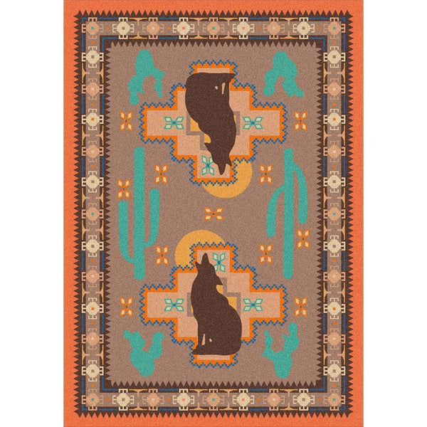 New Mexican Desert - Desert Rose-CabinRugs Southwestern Rugs Wildlife Rugs Lodge Rugs Aztec RugsSouthwest Rugs