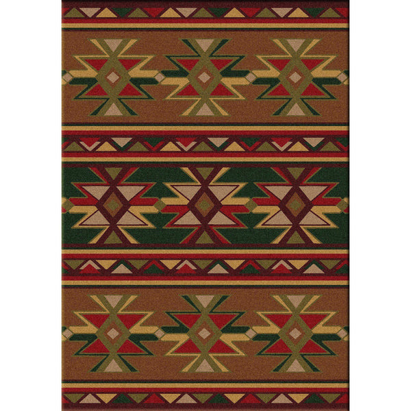 Northern Desert Star - Multi-CabinRugs Southwestern Rugs Wildlife Rugs Lodge Rugs Aztec RugsSouthwest Rugs