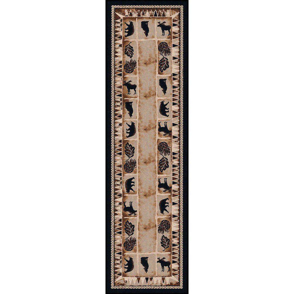 Northern Fauna-CabinRugs Southwestern Rugs Wildlife Rugs Lodge Rugs Aztec RugsSouthwest Rugs