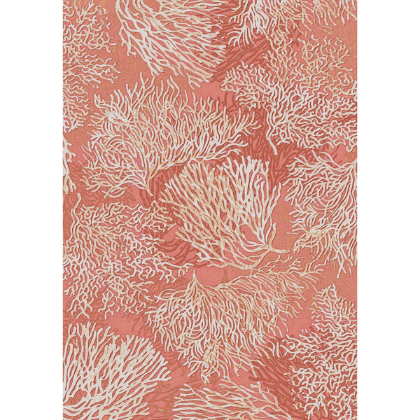 Oceanic Spring - Coral-CabinRugs Southwestern Rugs Wildlife Rugs Lodge Rugs Aztec RugsSouthwest Rugs