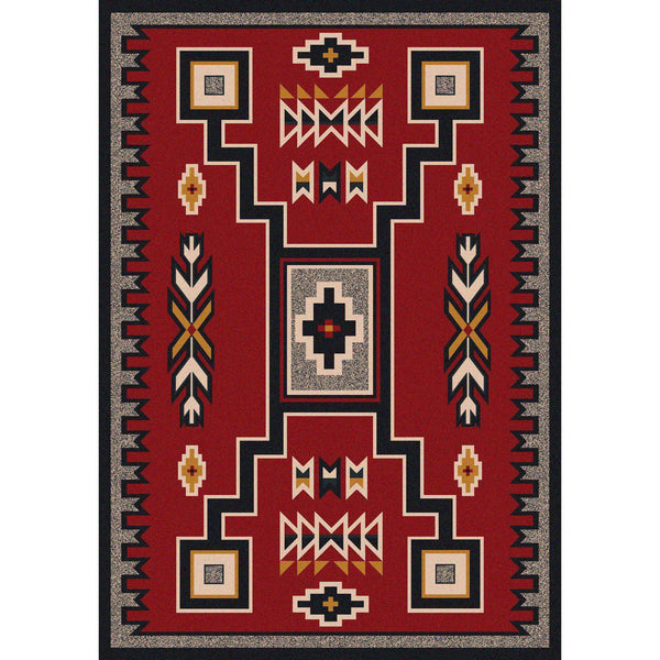 Old Timer - Red-CabinRugs Southwestern Rugs Wildlife Rugs Lodge Rugs Aztec RugsSouthwest Rugs