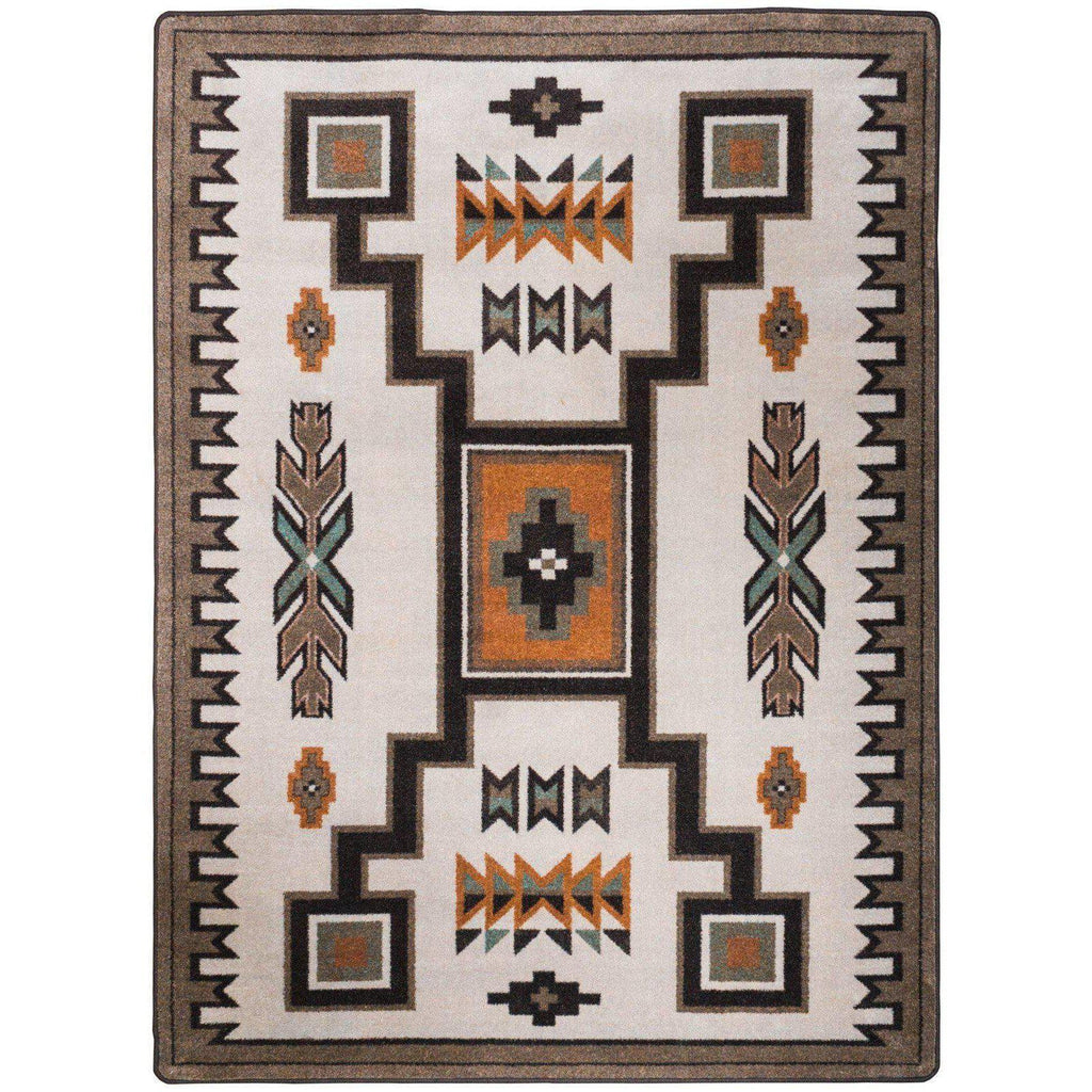 Old Timer - Worn Saddle-CabinRugs Southwestern Rugs Wildlife Rugs Lodge Rugs Aztec RugsSouthwest Rugs