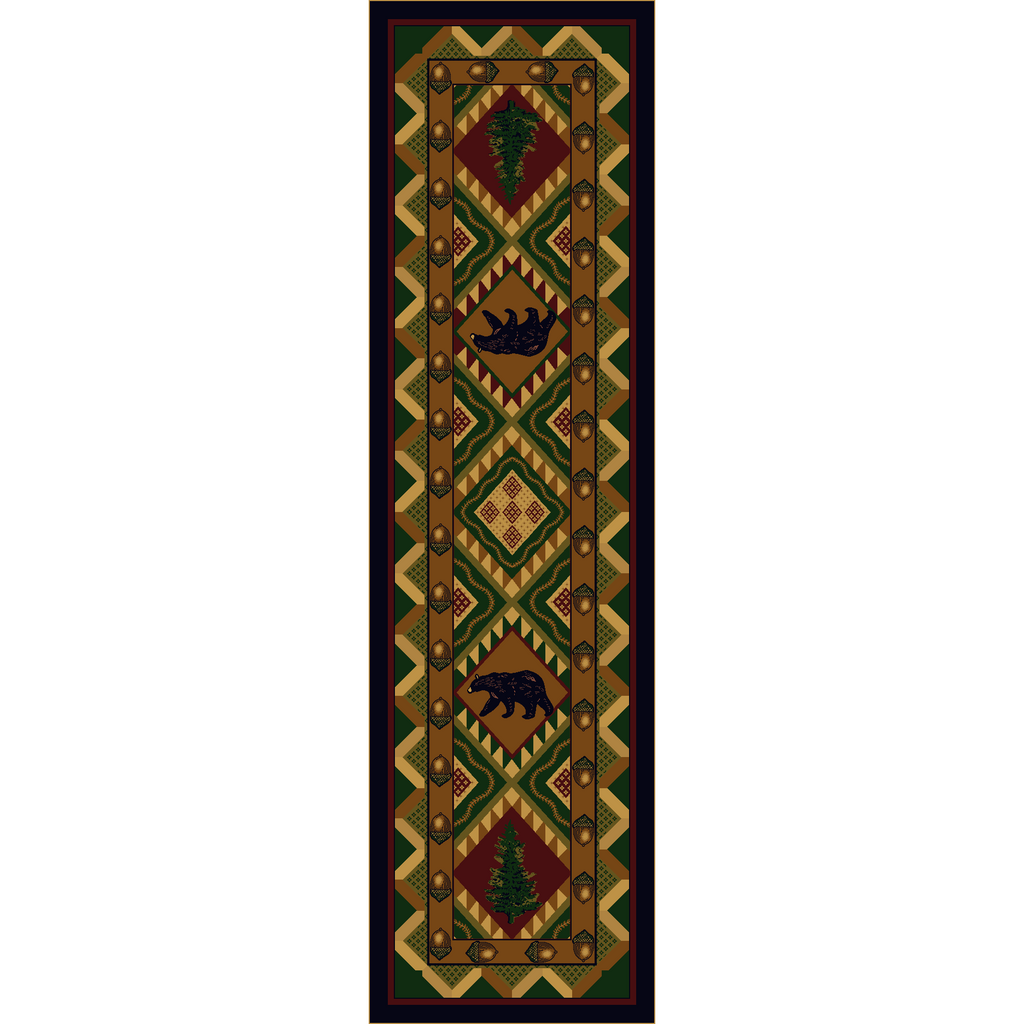 Picnic In The Forest - Woodland-CabinRugs Southwestern Rugs Wildlife Rugs Lodge Rugs Aztec RugsSouthwest Rugs