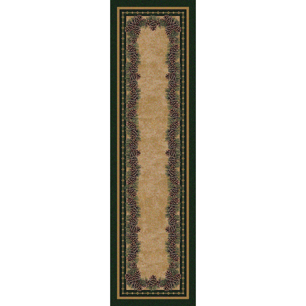 Pine Peak - Green-CabinRugs Southwestern Rugs Wildlife Rugs Lodge Rugs Aztec RugsSouthwest Rugs