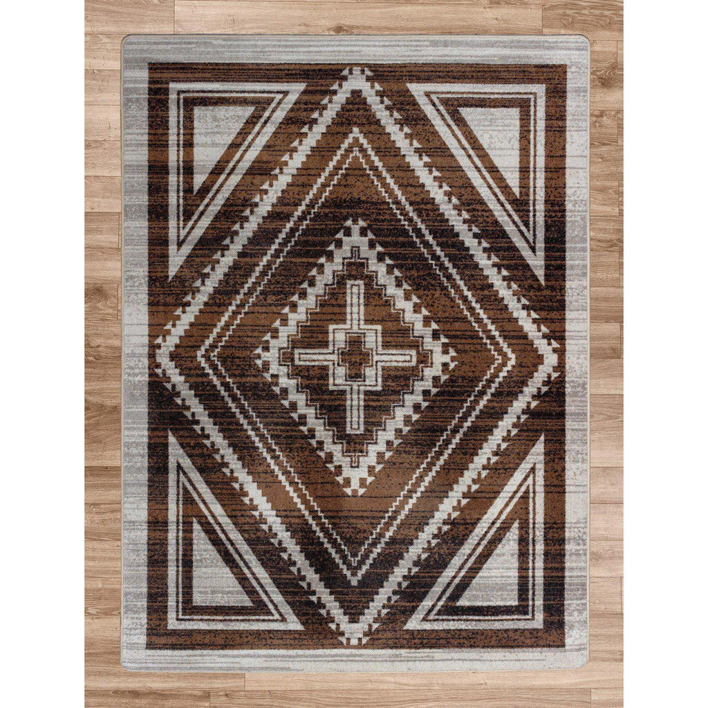 Rim Shot - Earthen-CabinRugs Southwestern Rugs Wildlife Rugs Lodge Rugs Aztec RugsSouthwest Rugs