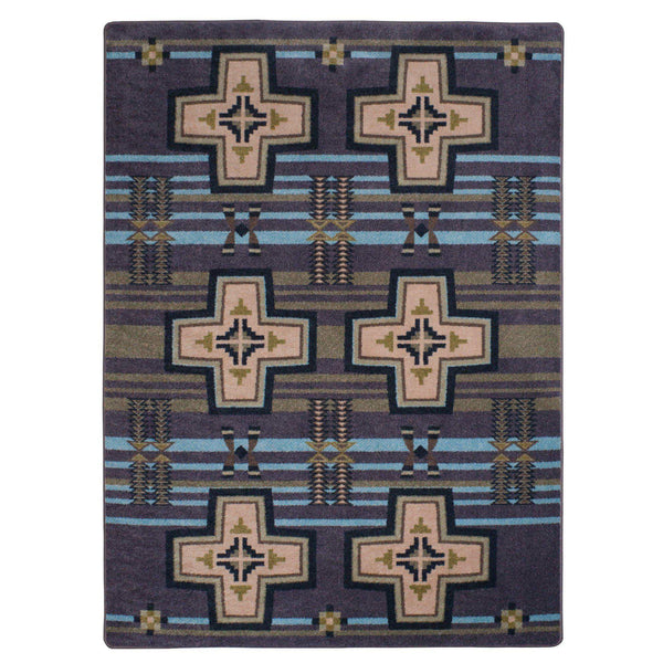 Rio Grande - Night Sky-CabinRugs Southwestern Rugs Wildlife Rugs Lodge Rugs Aztec RugsSouthwest Rugs