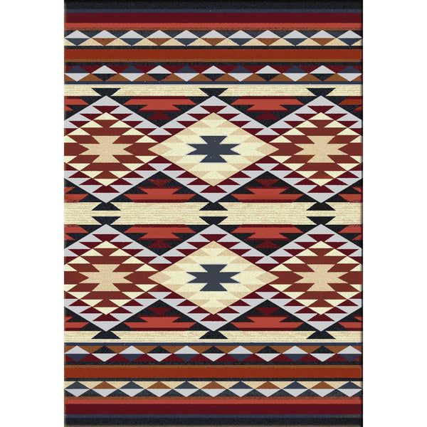 Rio Grande - Rust-CabinRugs Southwestern Rugs Wildlife Rugs Lodge Rugs Aztec RugsSouthwest Rugs