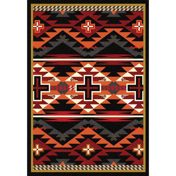 Rustic Crucifix - Black-CabinRugs Southwestern Rugs Wildlife Rugs Lodge Rugs Aztec RugsSouthwest Rugs