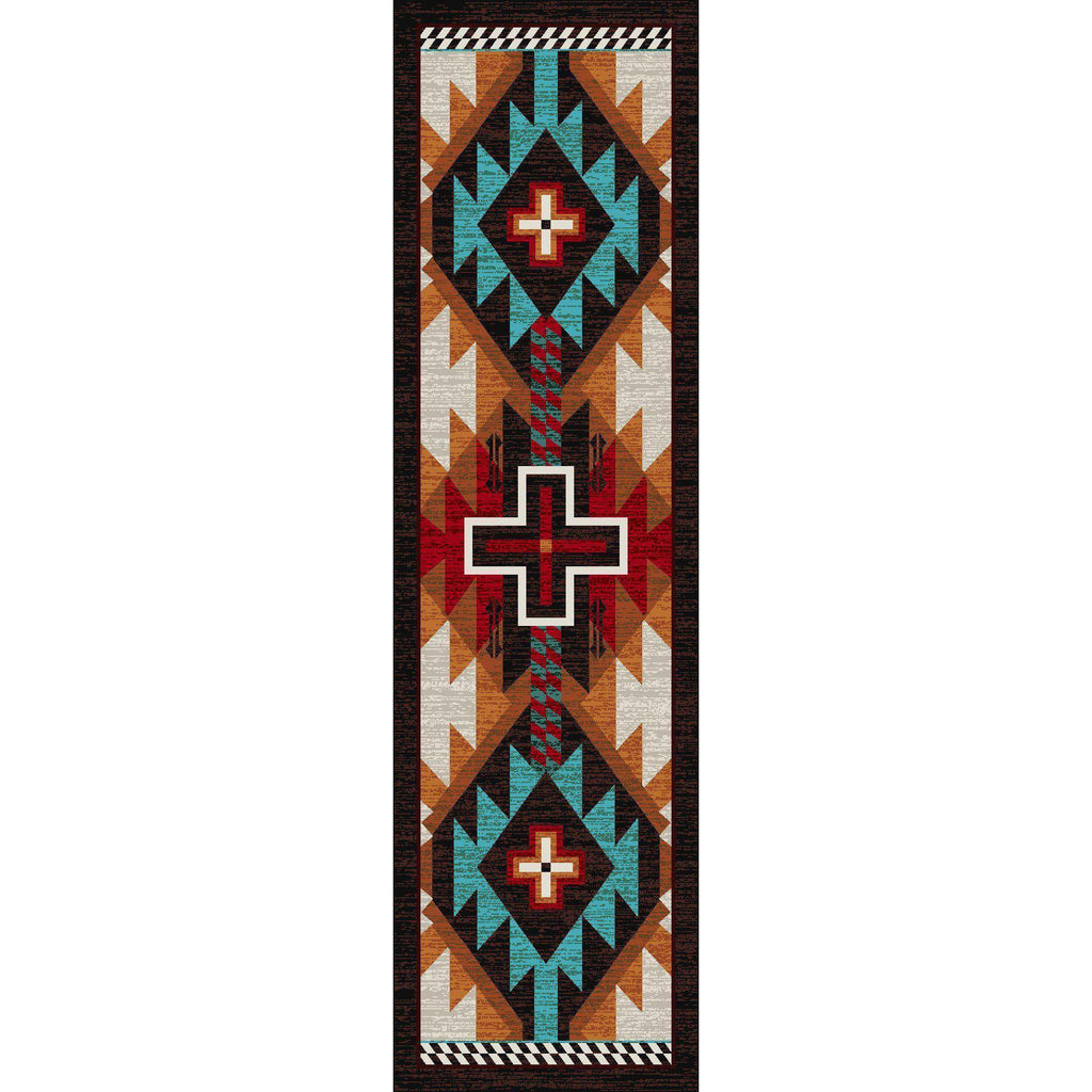 Rustic Crucifix - Electric-CabinRugs Southwestern Rugs Wildlife Rugs Lodge Rugs Aztec RugsSouthwest Rugs