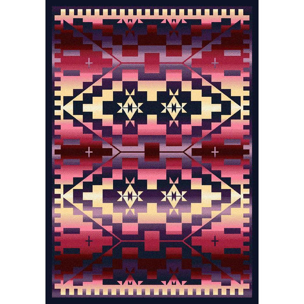 Rustic Crucifix - Sunset-CabinRugs Southwestern Rugs Wildlife Rugs Lodge Rugs Aztec RugsSouthwest Rugs