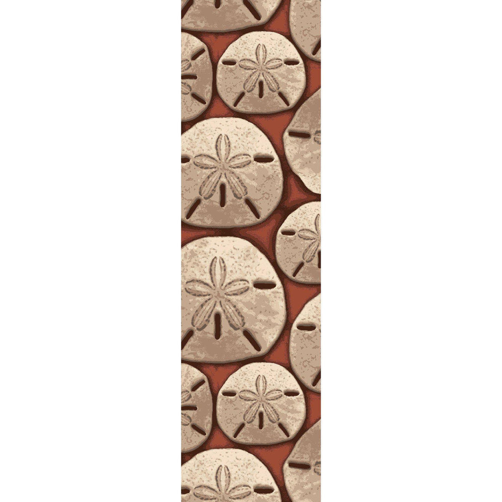 Sand Dollar - Coral-CabinRugs Southwestern Rugs Wildlife Rugs Lodge Rugs Aztec RugsSouthwest Rugs