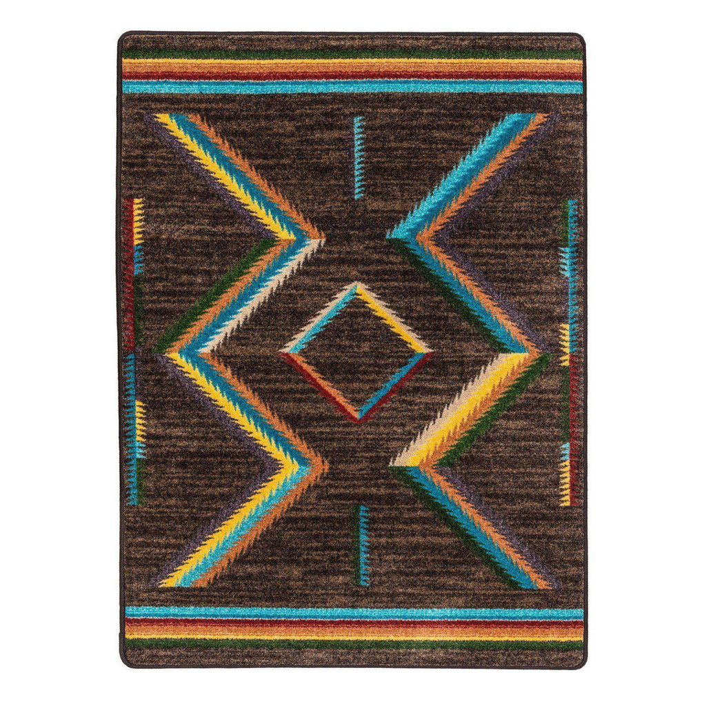Sand Glass - Bright-CabinRugs Southwestern Rugs Wildlife Rugs Lodge Rugs Aztec RugsSouthwest Rugs