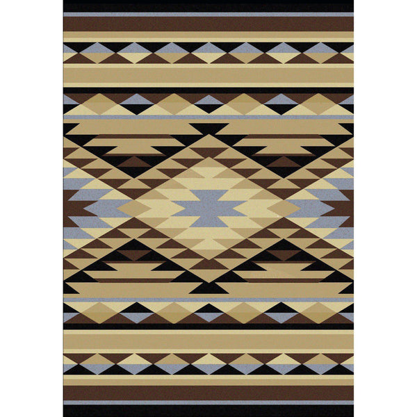 Sand Storm - Blue-CabinRugs Southwestern Rugs Wildlife Rugs Lodge Rugs Aztec RugsSouthwest Rugs