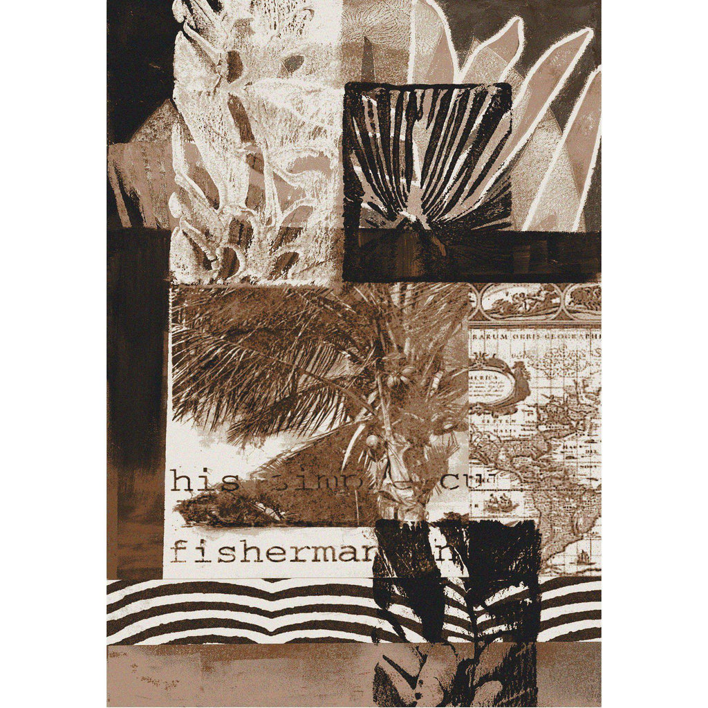 Sea Fisherman - Brown-CabinRugs Southwestern Rugs Wildlife Rugs Lodge Rugs Aztec RugsSouthwest Rugs