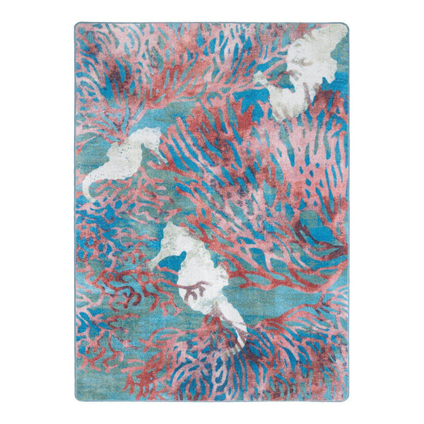 Sea Horse Paradise - Aqua-CabinRugs Southwestern Rugs Wildlife Rugs Lodge Rugs Aztec RugsSouthwest Rugs