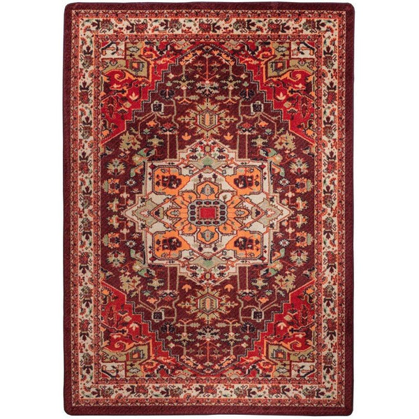 Silk Road - Blaze-CabinRugs Southwestern Rugs Wildlife Rugs Lodge Rugs Aztec RugsSouthwest Rugs