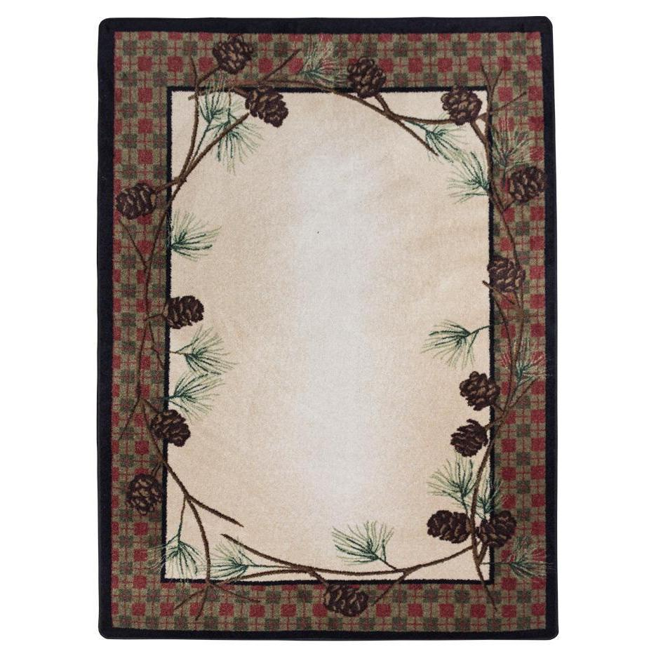 Simple Pines - Natural-CabinRugs Southwestern Rugs Wildlife Rugs Lodge Rugs Aztec RugsSouthwest Rugs