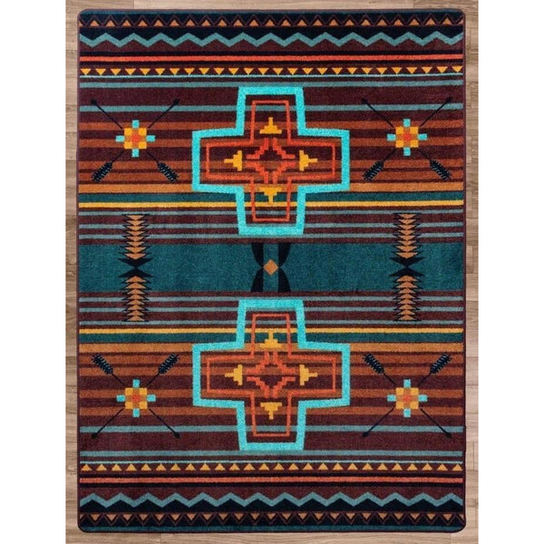 Southwest Abrazos - Sunset-CabinRugs Southwestern Rugs Wildlife Rugs Lodge Rugs Aztec RugsSouthwest Rugs