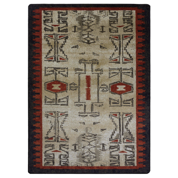 Southwest Ancients OKA - Red-CabinRugs Southwestern Rugs Wildlife Rugs Lodge Rugs Aztec RugsSouthwest Rugs