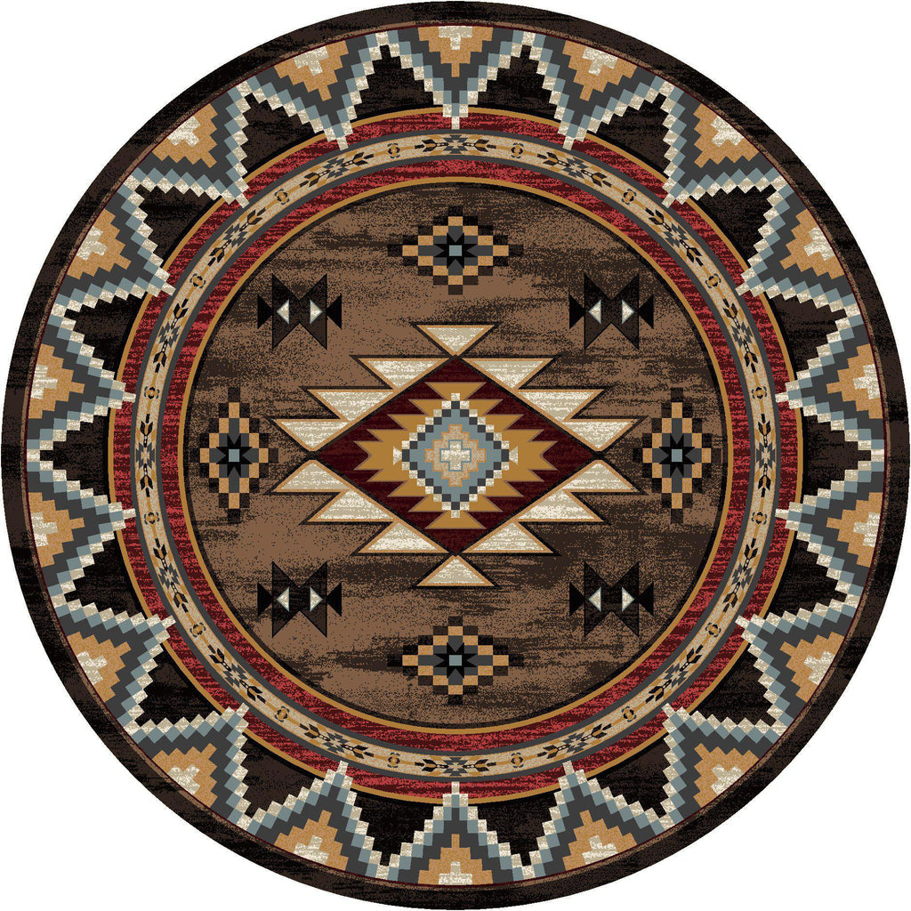 Southwest Archers - Brown-CabinRugs Southwestern Rugs Wildlife Rugs Lodge Rugs Aztec RugsSouthwest Rugs