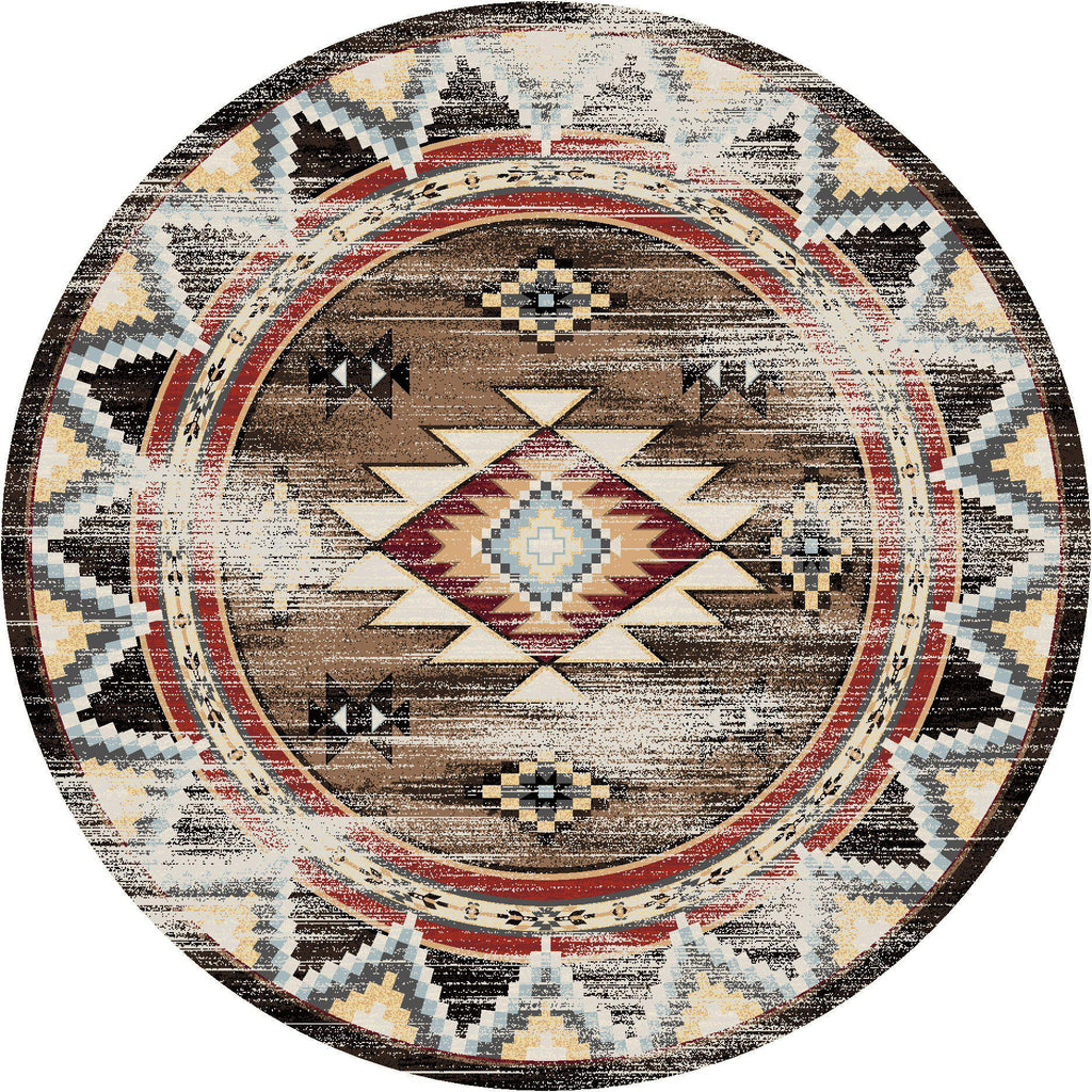 Southwest Archers Distressed - Brown-CabinRugs Southwestern Rugs Wildlife Rugs Lodge Rugs Aztec RugsSouthwest Rugs