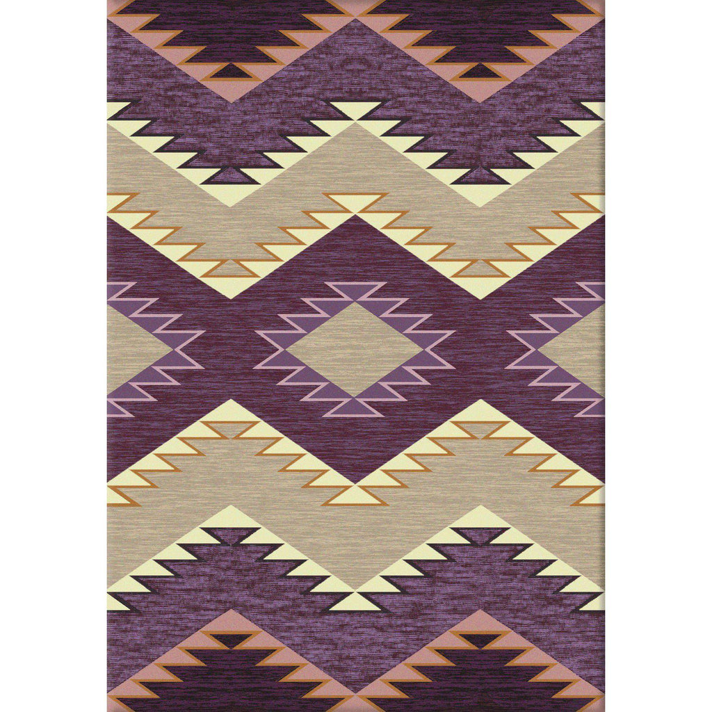 Southwest Heritage - Raspberry-CabinRugs Southwestern Rugs Wildlife Rugs Lodge Rugs Aztec RugsSouthwest Rugs