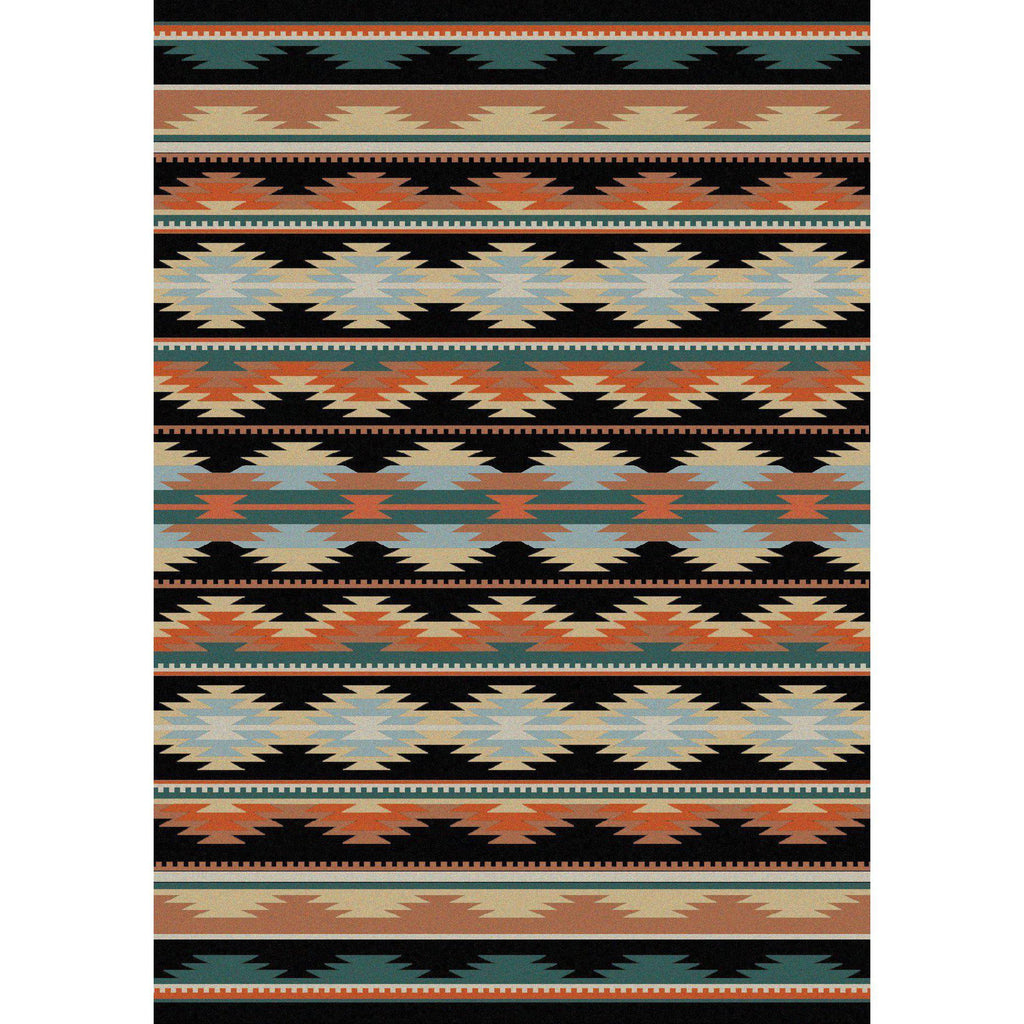 Southwest Medicine - Dark-CabinRugs Southwestern Rugs Wildlife Rugs Lodge Rugs Aztec RugsSouthwest Rugs