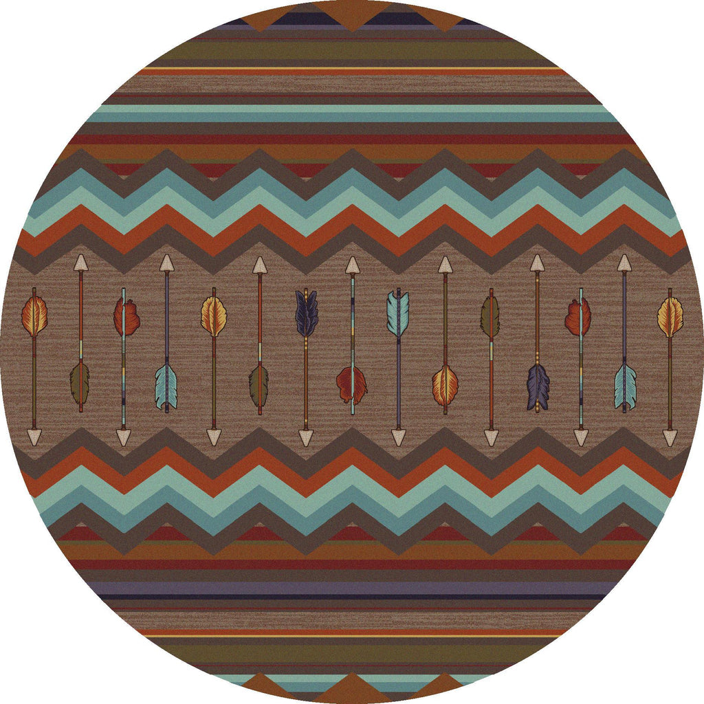 Southwest Rainbow - Rainbow-CabinRugs Southwestern Rugs Wildlife Rugs Lodge Rugs Aztec RugsSouthwest Rugs