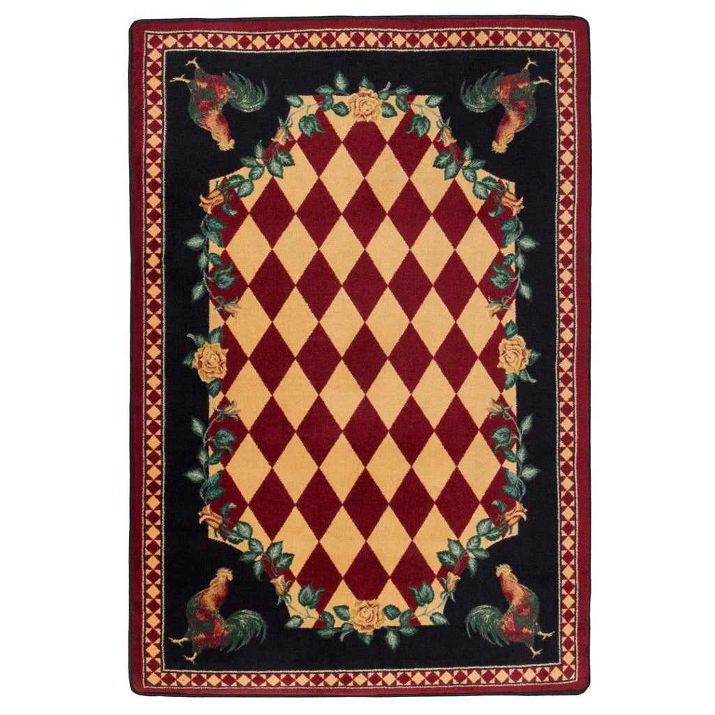 Southwestern Farm - Red-CabinRugs Southwestern Rugs Wildlife Rugs Lodge Rugs Aztec RugsSouthwest Rugs