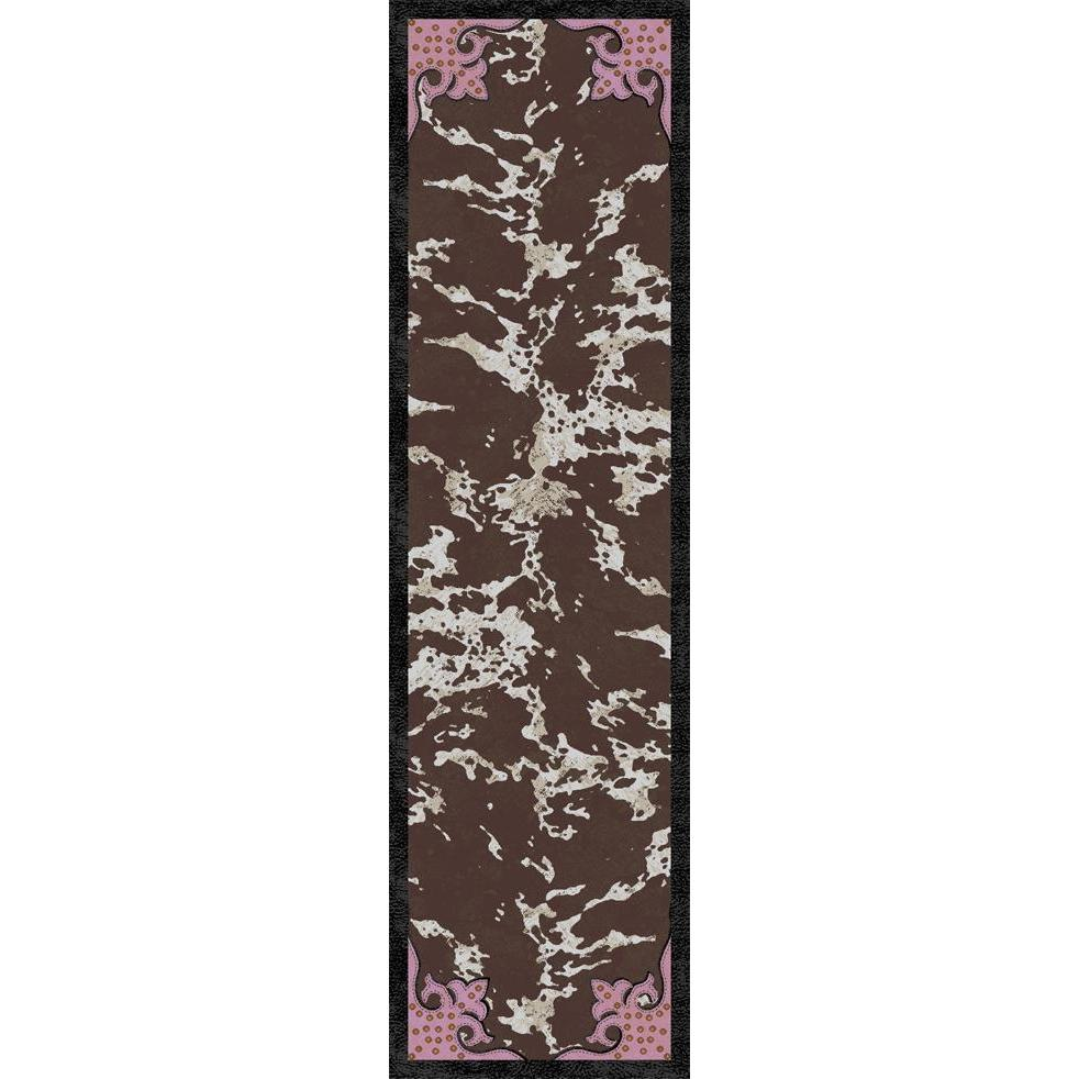 Southwestern Ranch - Brown Pink-CabinRugs Southwestern Rugs Wildlife Rugs Lodge Rugs Aztec RugsSouthwest Rugs