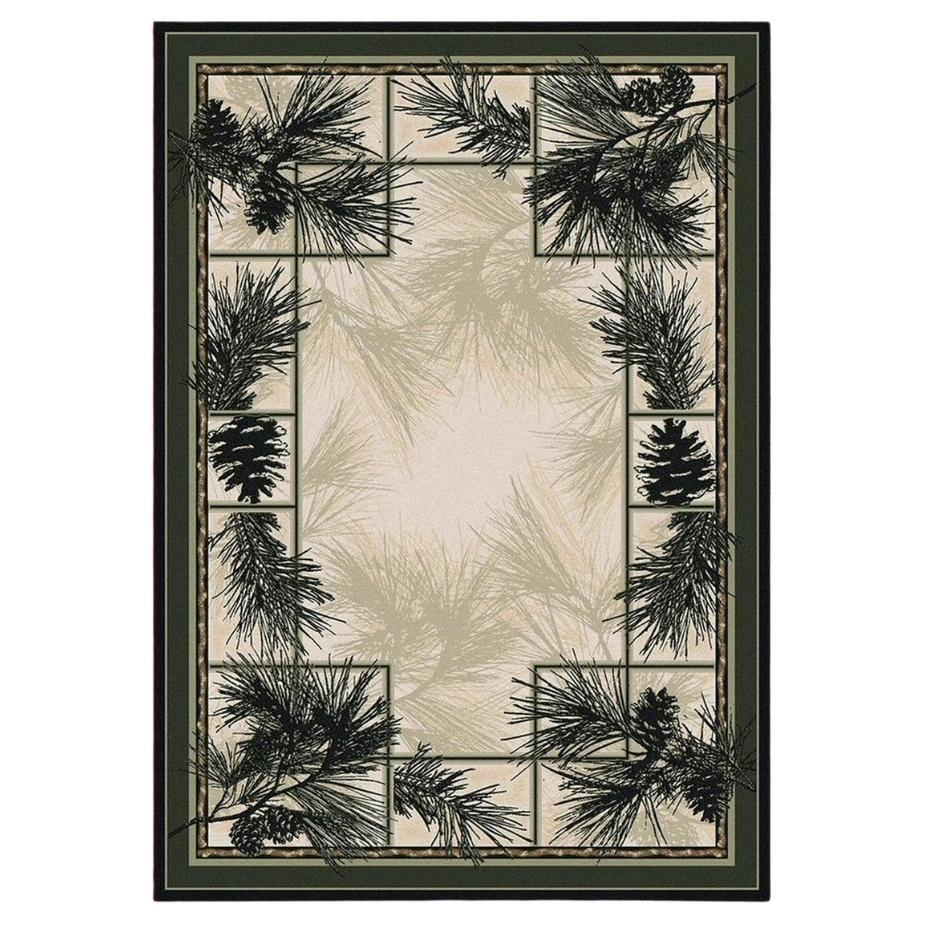 Stoic Trees - Natural-CabinRugs Southwestern Rugs Wildlife Rugs Lodge Rugs Aztec RugsSouthwest Rugs
