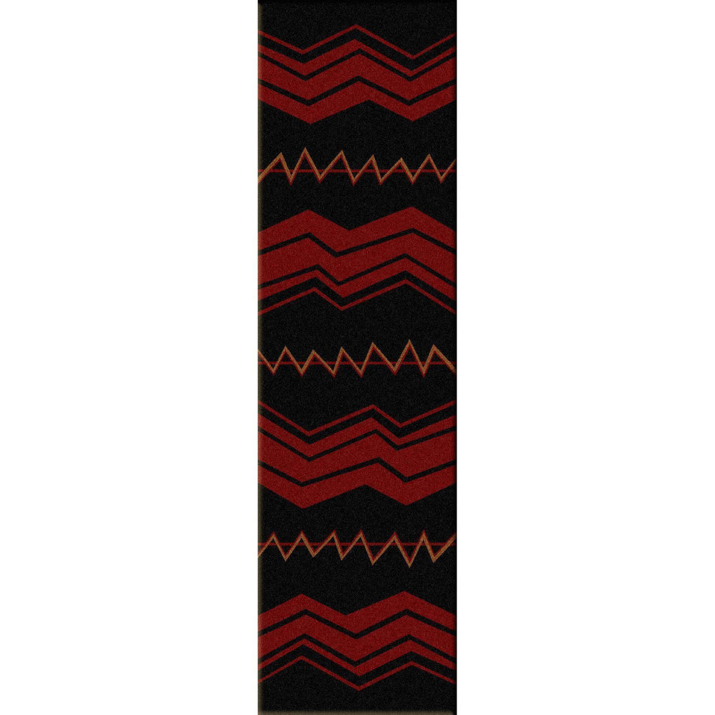The Way Of War - Black-CabinRugs Southwestern Rugs Wildlife Rugs Lodge Rugs Aztec RugsSouthwest Rugs