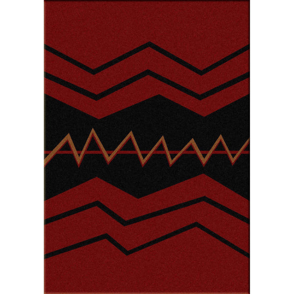The Way Of War - Red-CabinRugs Southwestern Rugs Wildlife Rugs Lodge Rugs Aztec RugsSouthwest Rugs