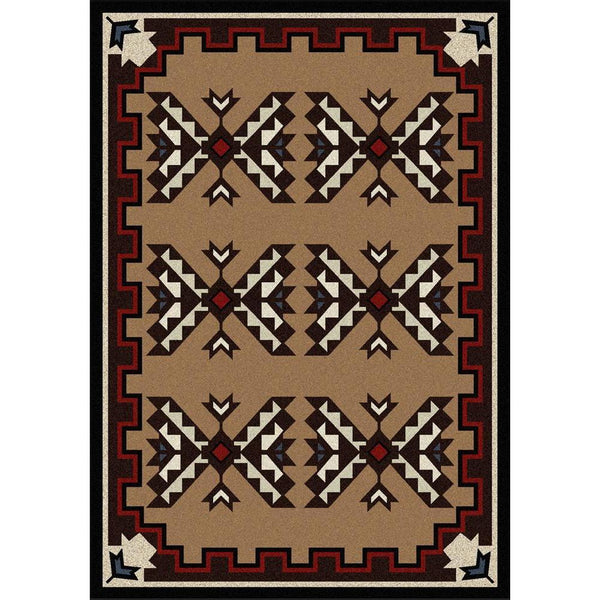 Trail Blanket - Brown-CabinRugs Southwestern Rugs Wildlife Rugs Lodge Rugs Aztec RugsSouthwest Rugs