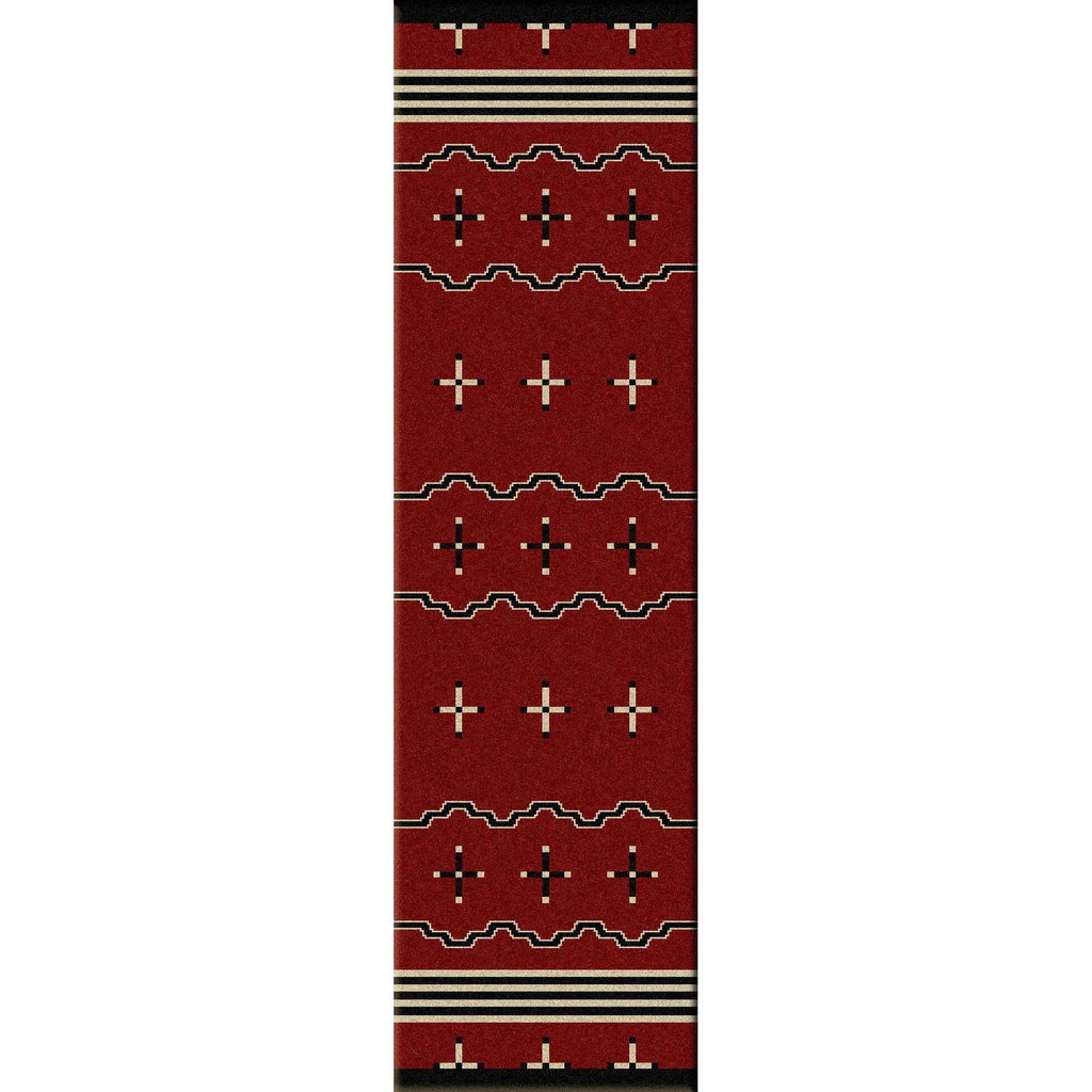 Tribe Leader - Red-CabinRugs Southwestern Rugs Wildlife Rugs Lodge Rugs Aztec RugsSouthwest Rugs
