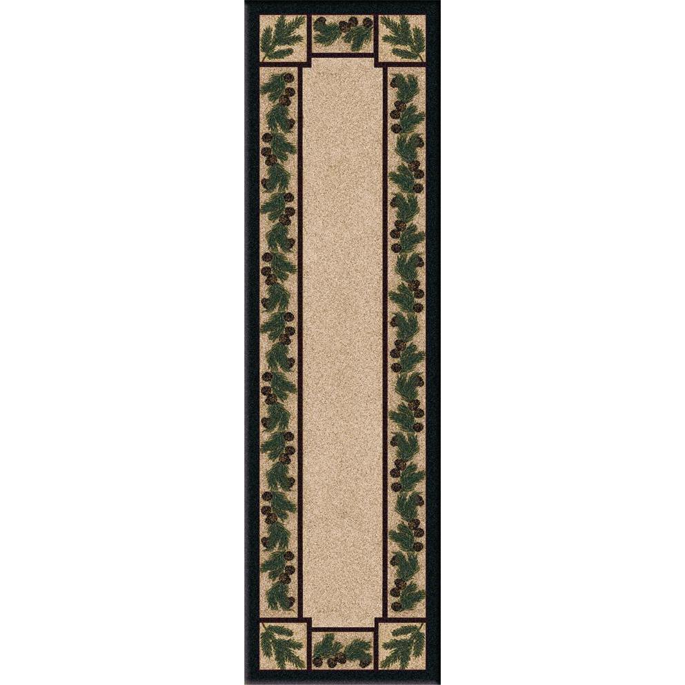 Valley Forest Floor - Maize-CabinRugs Southwestern Rugs Wildlife Rugs Lodge Rugs Aztec RugsSouthwest Rugs