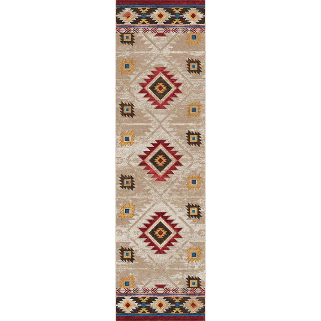 Whisky On The River - Natural-CabinRugs Southwestern Rugs Wildlife Rugs Lodge Rugs Aztec RugsSouthwest Rugs