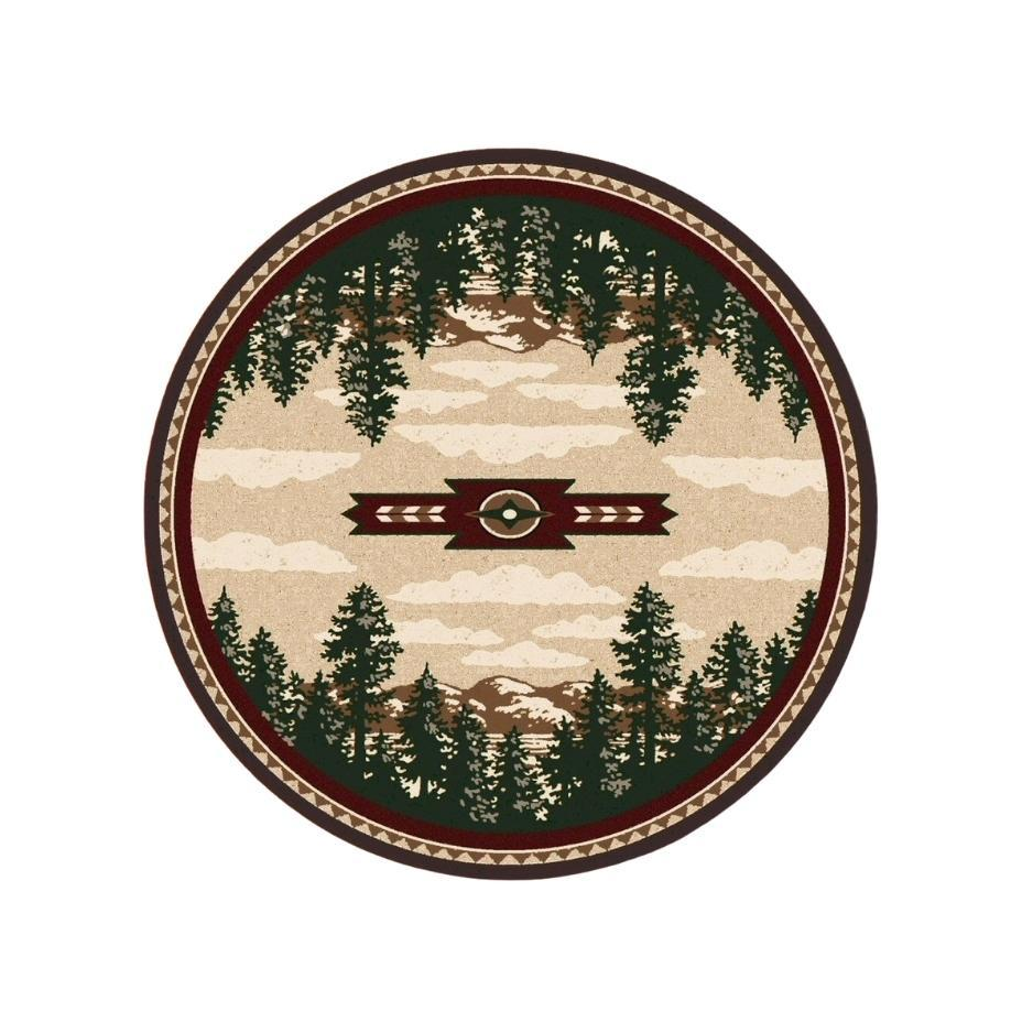 Wilderness Calls - Wine-CabinRugs Southwestern Rugs Wildlife Rugs Lodge Rugs Aztec RugsSouthwest Rugs