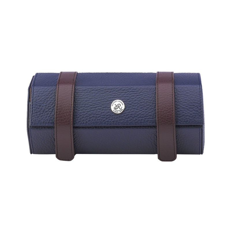 Rapport-Watch Accessories-Cooper Three Watch Roll-Blue and Brown