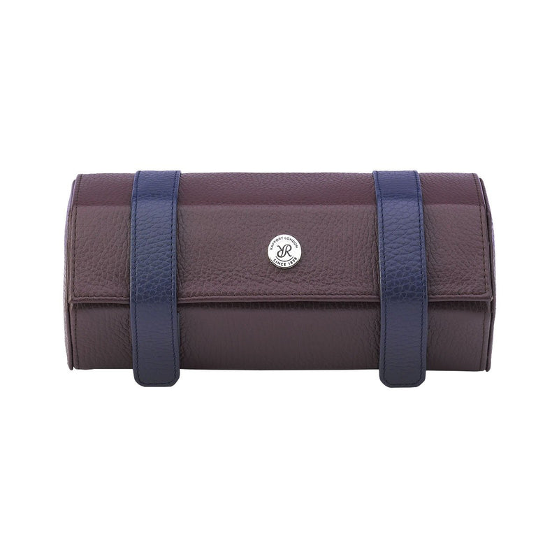 Rapport-Watch Accessories-Cooper Three Watch Roll-Brown and Blue