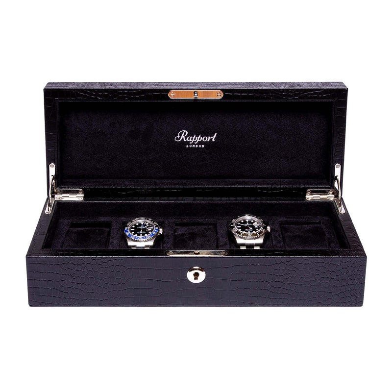 Rapport-Watch Box-Brompton Five Watch Box-Black
