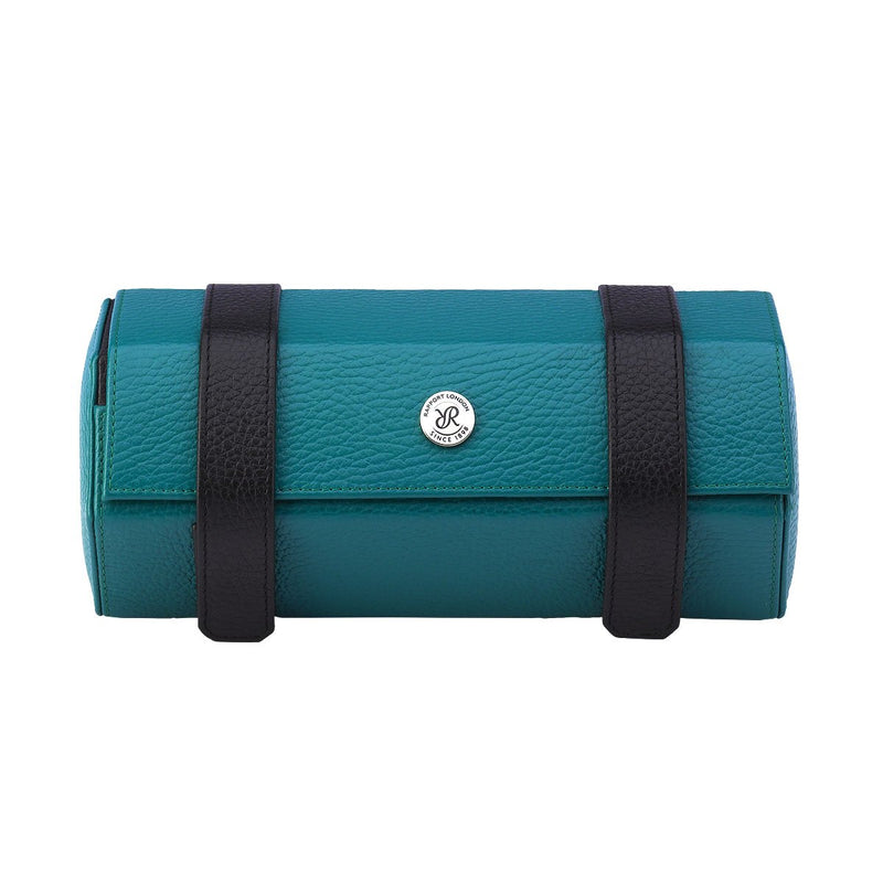 Rapport-Watch Accessories-Cooper Three Watch Roll-Teal and Black