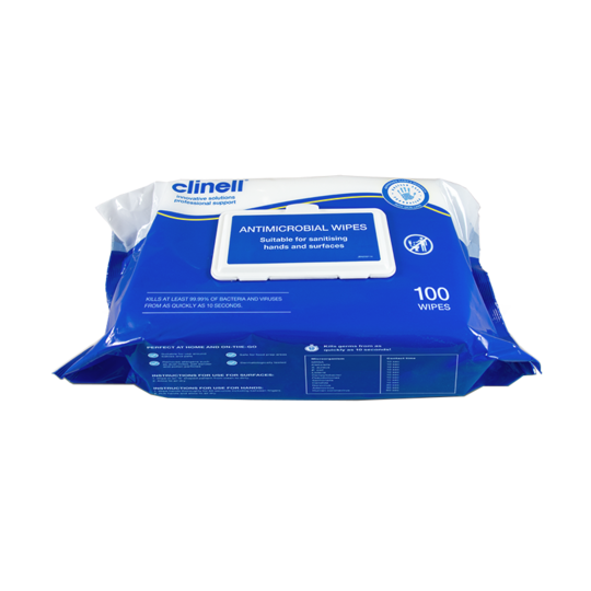 Clinell Anti Microbial Hands and Surface Wipes