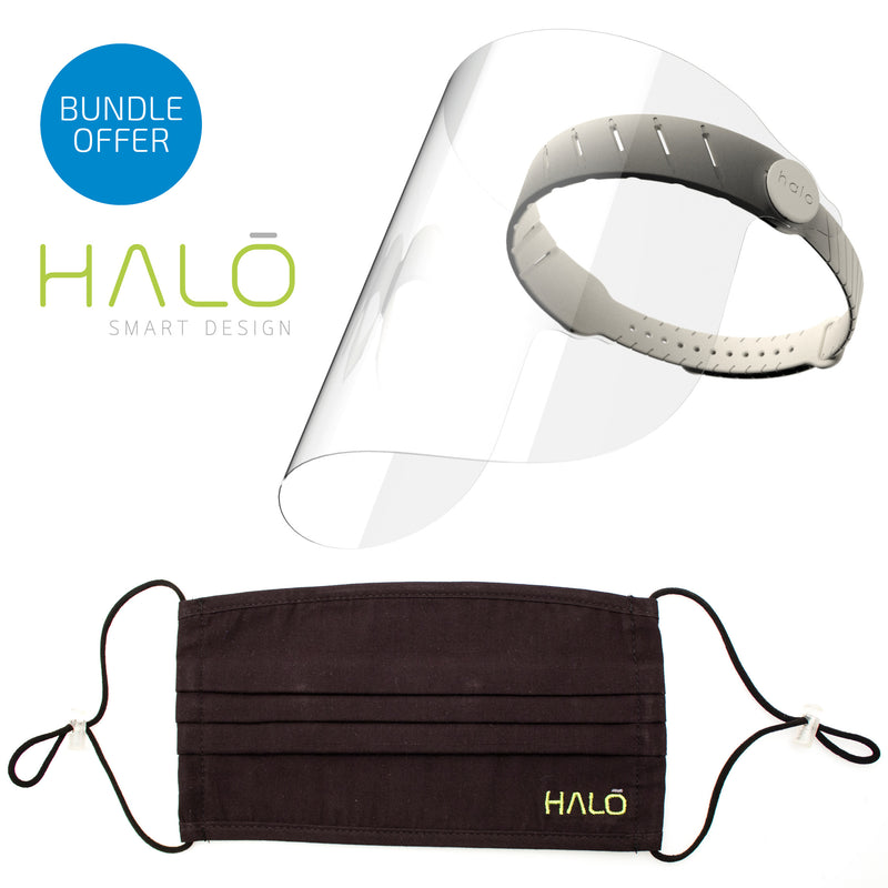 Halo Face Shield and Face Mask Bundle Offer (Crayon) Save 20% on RRP