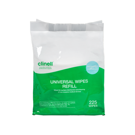 Clinell Universal Wipes Bucket 225 Refill