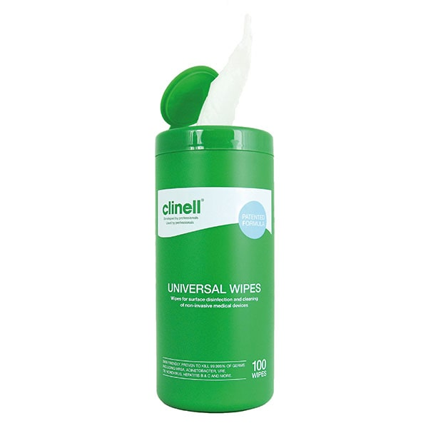 Clinell Universal Sanitising Wipes Tub 100