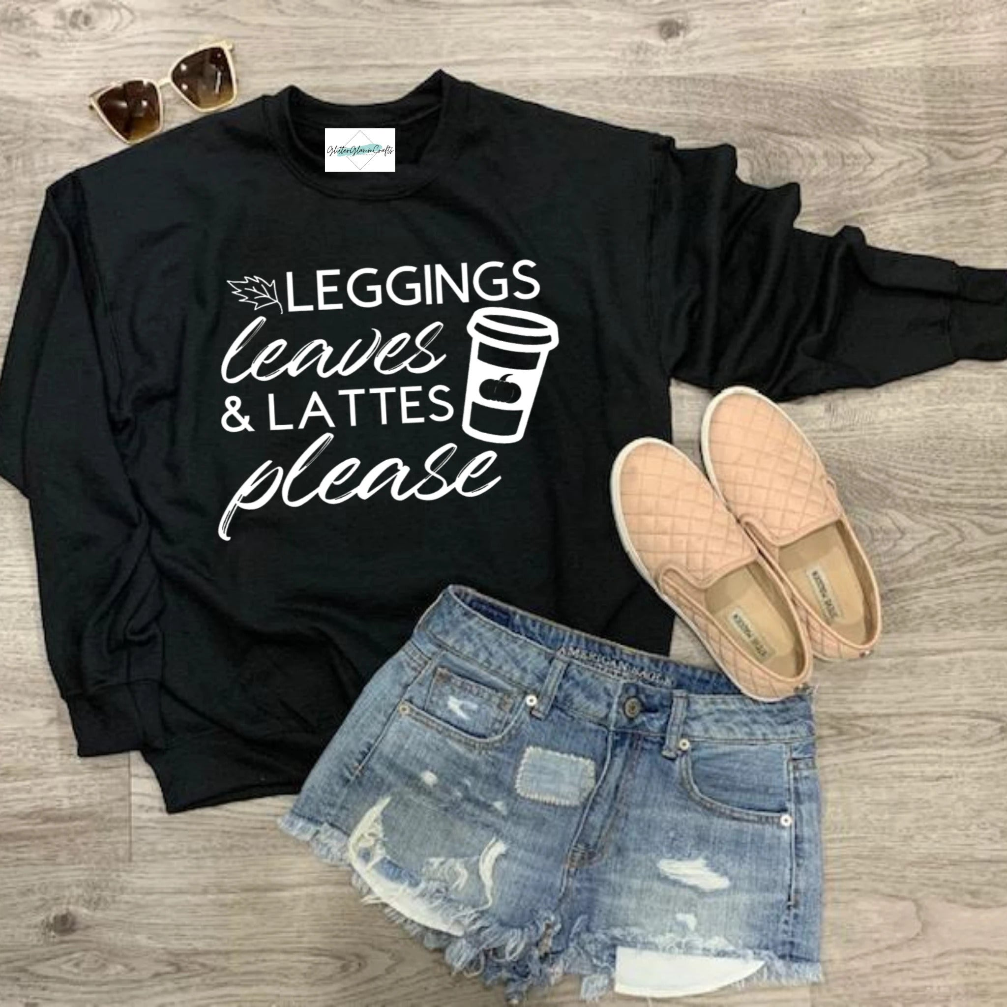 Leggings, Leaves and Lattes - Crew Sweater