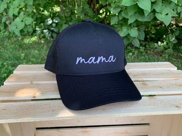 Scripted mama High Ponytail Baseball Hat