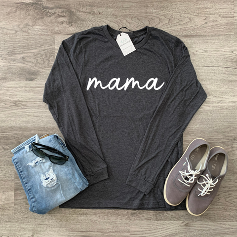 mama scripted  - Long Sleeve Tee