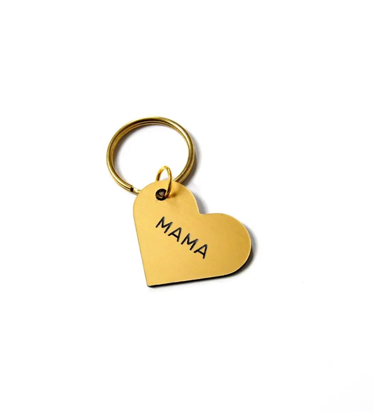 Mama Heart Key Tag